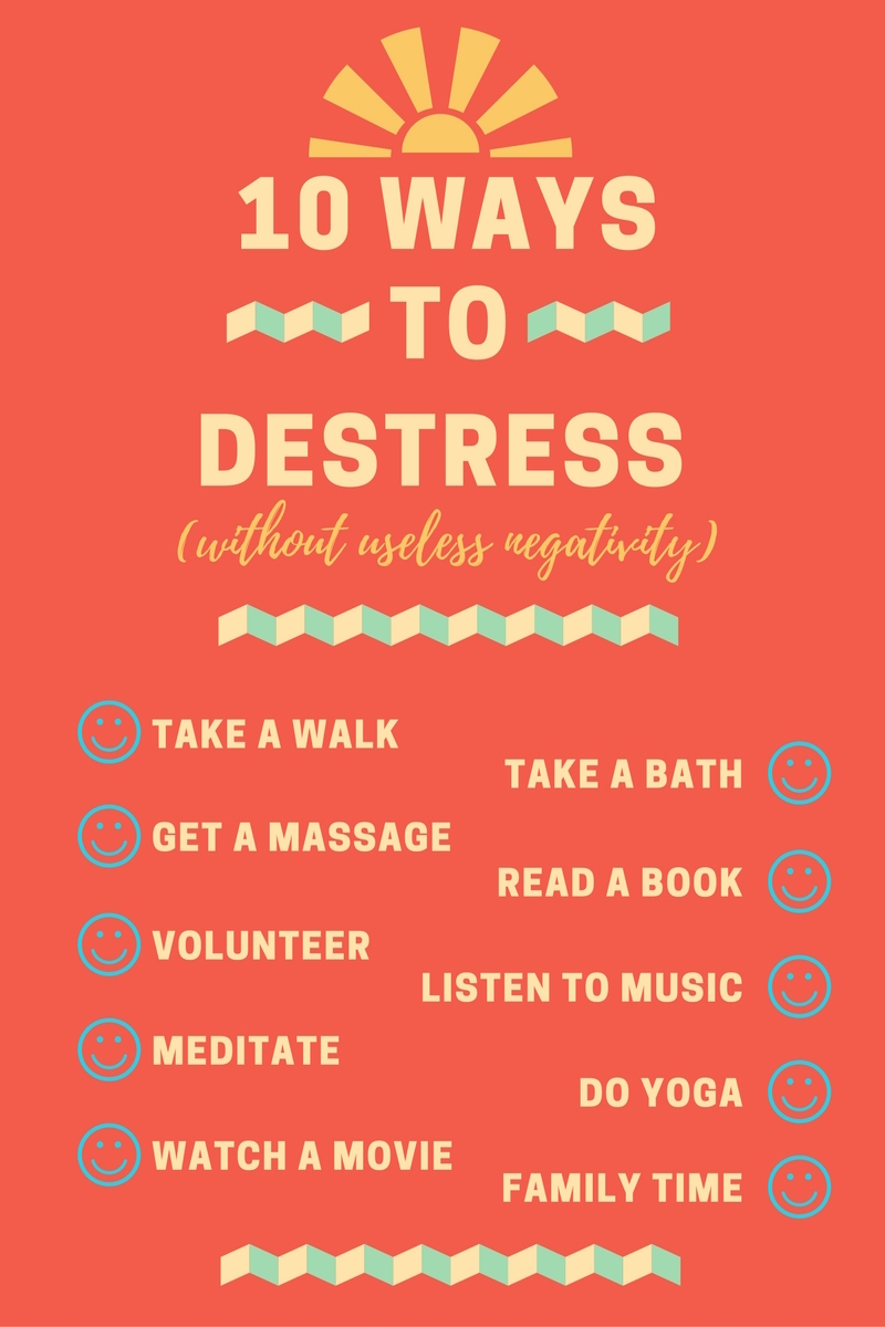 10 ways to deal with stress infographic